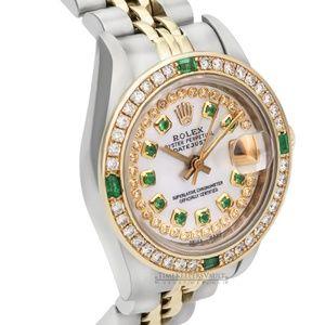 Rolex Lady Datejust White MOP Emerald 26mm Watch